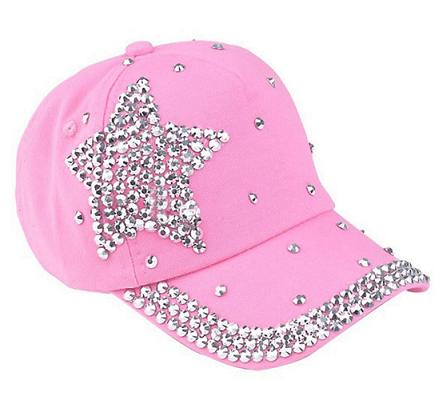 Lyserød pige cap