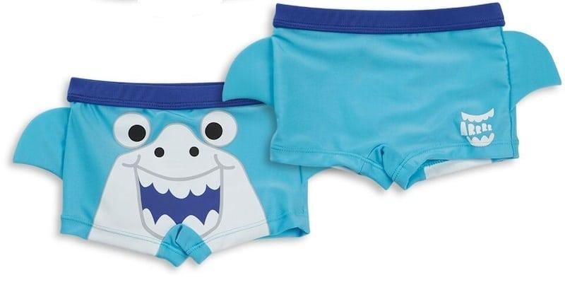Drenge badebukser - blå med haj