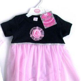 Bodysuit Kjolesæt sort og pink