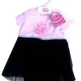 Bodysuit Kjolesæt sort og pink2