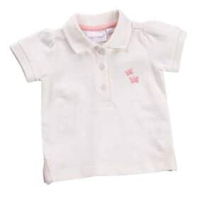 Cremefarvet polo t-shirt dreng