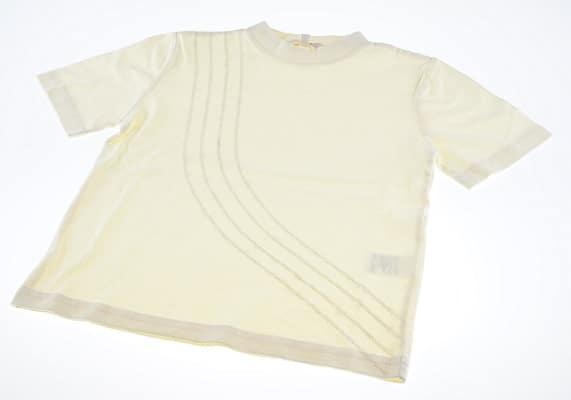 Lysegul t-shirt pige