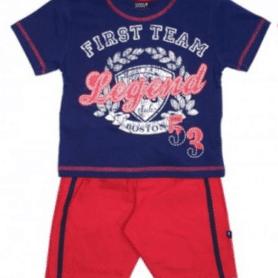 Drenge Shorts sæt - blå-rød