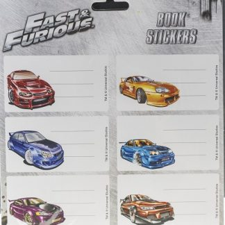 Fast & Furious bog stickers