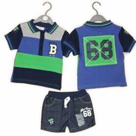 Tøjsæt til dreng med shorts og polo