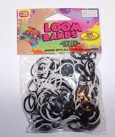 Loom Bands sort & hvid