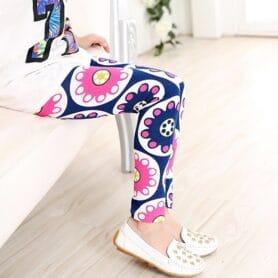 Blå og lyserøde mode leggings