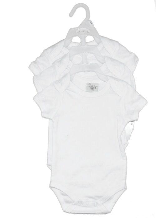 Kortærmet Hvid body - Unisex