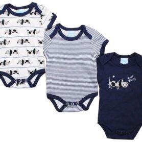 Blå body til baby drenge