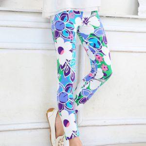 Lyseblå og lilla mode leggings