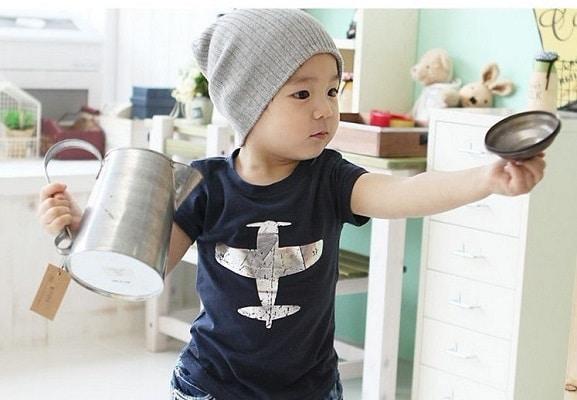 blå t-shirt dreng - cool t-shirt børn