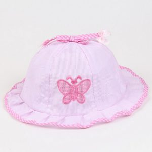 Lyserød baby sommerhat - baby solhat