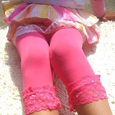 korte tynde pink leggins