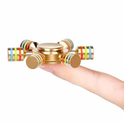 Fidget Spinner luxus metal - 6 arme