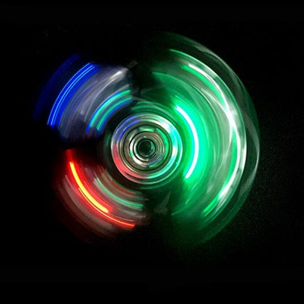 LED Fidget Spinner Transparent - Gennemsigtig Spinner