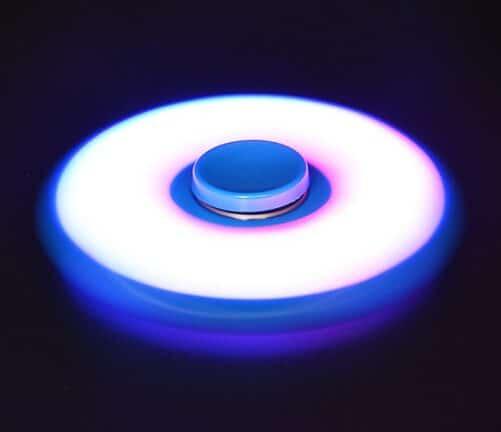 LED Fidget - Sort Blå