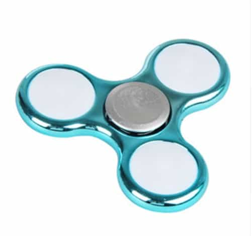 LED Fidget Spinner Blå metallic