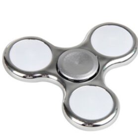 Led Fidget Spinner Sølv metallic