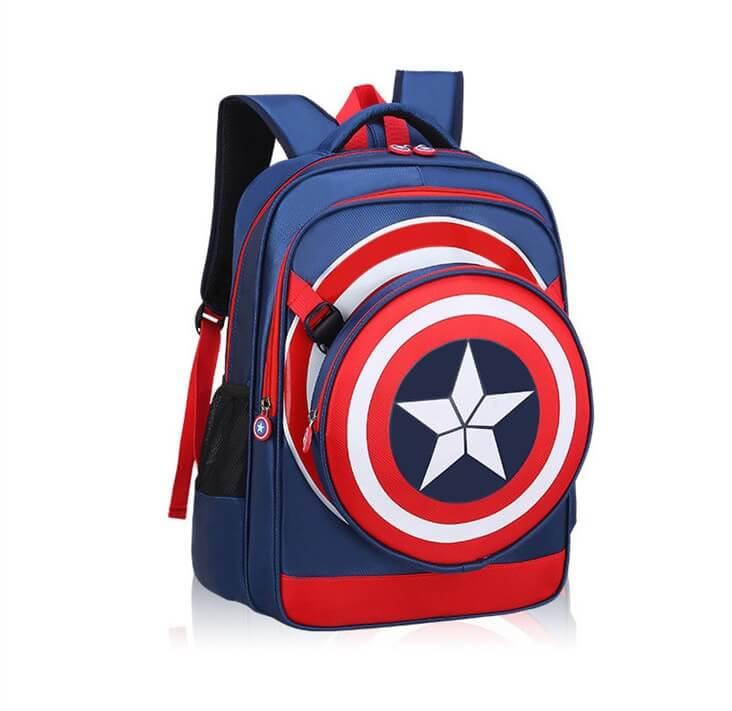 Captain America Skoletaske - Stor