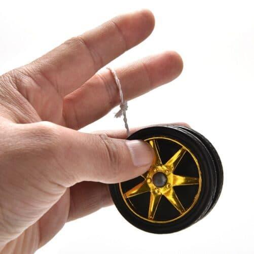 Klassisk yoyo legetøj - hjul - Guld