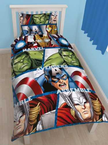 Marvel Avengers sengetøj - Hulk, Thor, Captain America