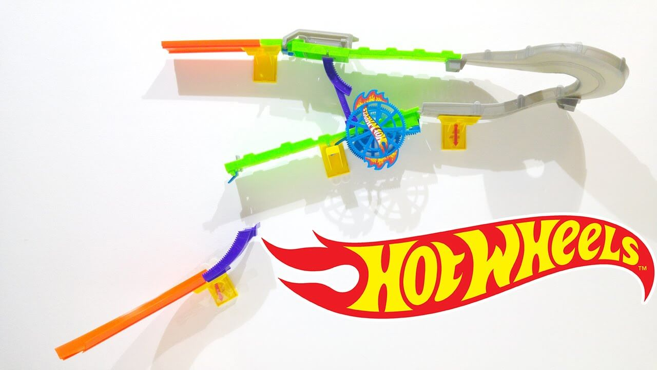Hot Wheels Vægbane - Spin Slammer