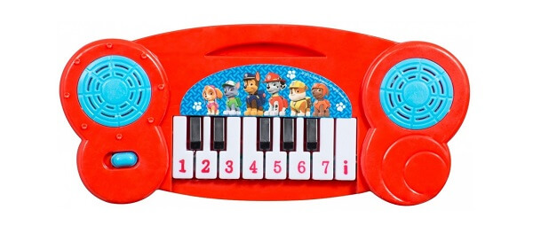 Paw Patrol Keyboard - piano - rød