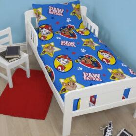 Paw Patrol junior sengetøj + dyne og pude