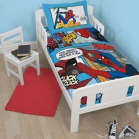 Spiderman junior sengetøj