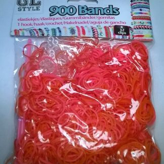 Loom Bands Orange og rød