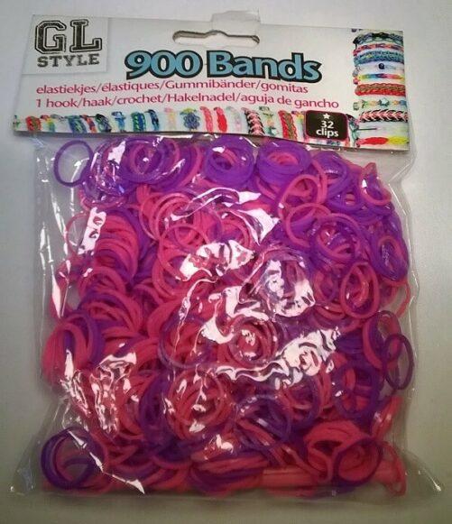 Loom Bands lilla og pink