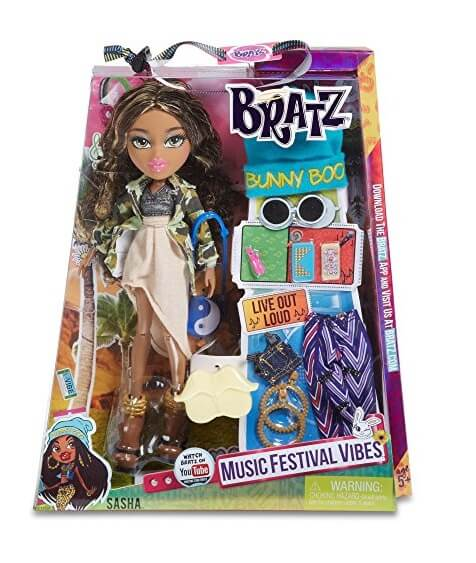 Bratz Music Festival Vibes Doll- Hip Hop Sasha