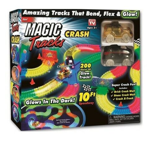magic track crash sæt - flexitracks - glow in the dark