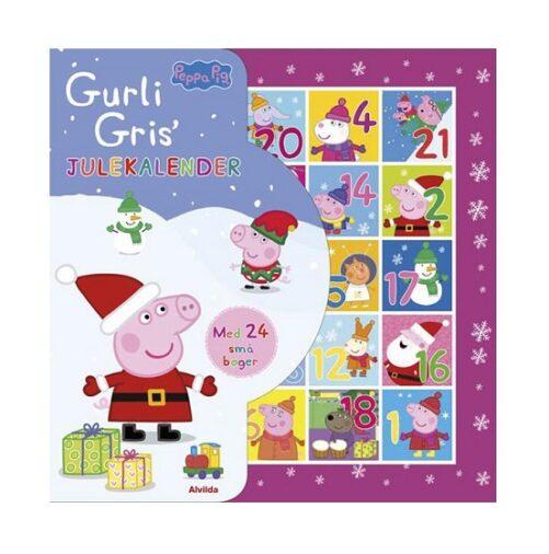 Gurli Gris Julekalender med 24 bøger