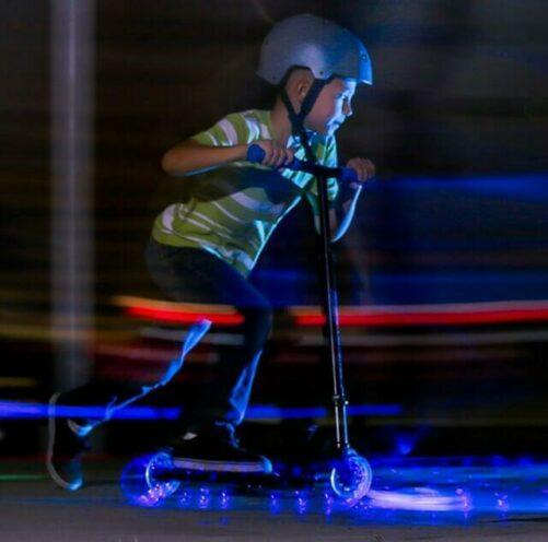 Blå Neon Løbehjul