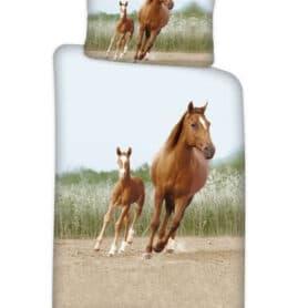 sengetøj med heste - hestemotiv sengesæt
