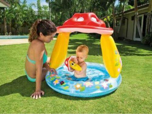 Baby Badebassin med sol beskyttelse