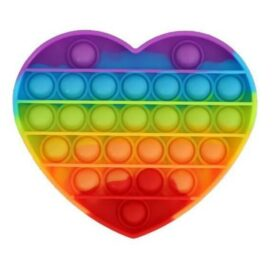 Pop It Fidget Hjerte - Rainbow